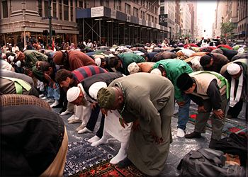 Islamic prayer in NYC