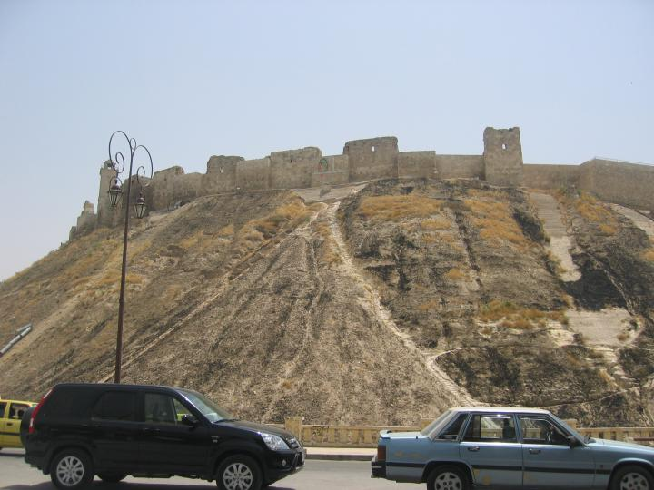 Aleppo citadel from the street