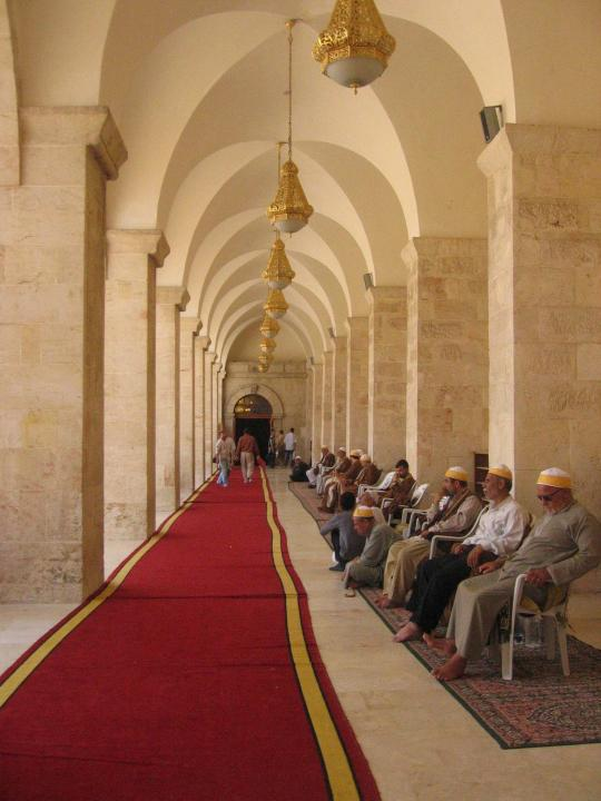 Inside the Great Mosque of Aleppo
