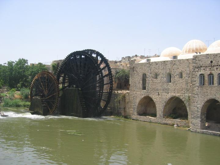 An ancient Noria in Hama