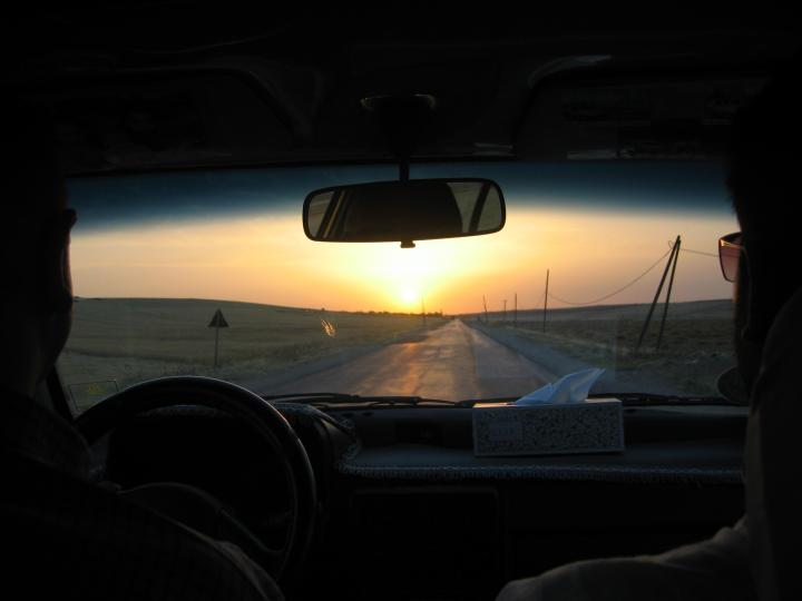 View of road north of Hama